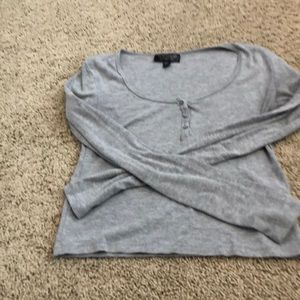Cropped long sleeve T